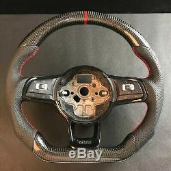 Carbon Steering Wheel For FIT VW Golf 7 GTI R MK7 Jetta Passat CC Polo Scirocco