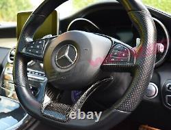 Carbonwurks Mercedes Benz Carbon Fibre Steering Wheel Trim A, C, CLA, E, AMG GT