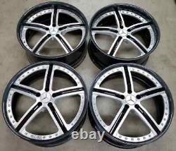 Custom Forged Wheels Rim 21 inch 5X112 Staggered Carbon Fiber Lip Mercedes S550