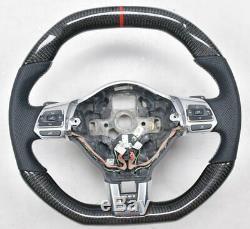 Customized Carbon Fiber Car Steering Wheel For VW Golf 6 MK6 GTI Scirocco R