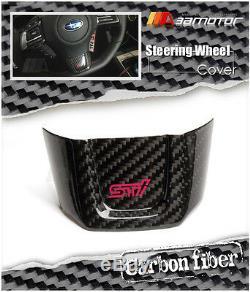 Dry Carbon Fiber STI Steering Wheel Cover for 2015-2018 Subaru Impreza WRX VAB