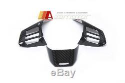 Dry Carbon Fiber Steering Wheel Cover Trim for 2015-2017 Subaru Impreza WRX STI