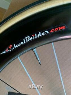 ENVE CARBON FIBER CLINCHER RACE WHEELS WithSES 6.7 Red Chris King Hubs RIM BRAKE