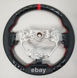 Fits2013-2020 Lexus IS250 IS350 Hydro Dip Carbon Fiber Red Ring Steering Wheel