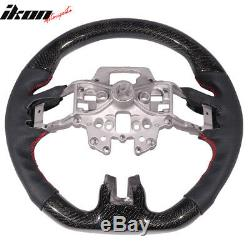 Fits 15-17 Ford Mustang CF With Real Leather Steering Wheel Black