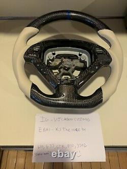 Fits g37 steering wheel Custom Made Carbon Fiber With Leather