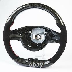 Flat Steering Wheel Carbon Suede For Mercedes Benz C-Class W205 C205