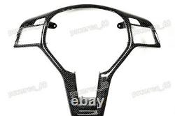 For Mercedes Benz Carbon Fiber Trim Steering Wheel Cover W204 W207 W176 2011-On