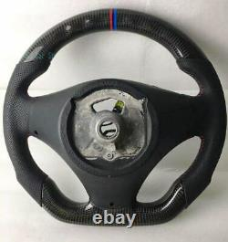 Forged Carbon Fiber/ Leather Manual Car Steering Wheel For BMW E90 E91 E92 E93