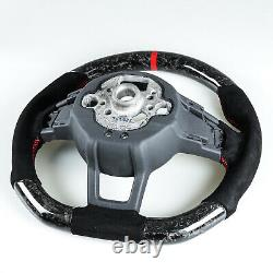 Forged Carbon Suede Steering Wheel For VW Golf/Polo GTI Jetta Scirocco/Tiguan