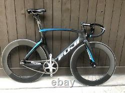 Fuji Track Elite Bike. 3T Scatto Bars, Oval Wheels, Dura-Ace 50x15, 58cm Frame