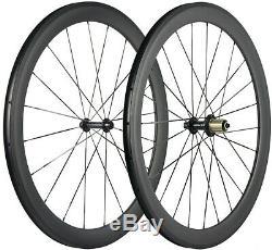 Full Carbon Fiber Wheels Mix 38/50/60/88mm Road Bike Clincher Wheelset 700C UD