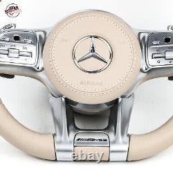 Genuine 2019 AMG model Cream Color Steering Wheels for All Mercedes models 2014+