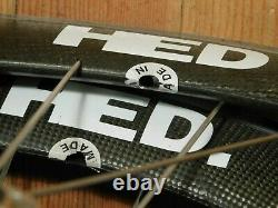 HED Jet 700c CLINCHER Wheels Shimano 600 Hubs Skewers Stainless Spokes