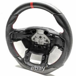 Handkraftd 2015+ Ford F150 Steering Wheel Real Matte Carbon Fiber/Leather/Red