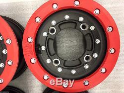 Hiper Cf1 Carbon Fiber 10 Front 9 Rear Beadlock Rims Wheels Ltr450 Ltz400 Kfx