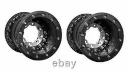 Hiper Tech 3 Carbon Fiber Rear Beadlock Wheels Rims Black 10 10X9 Banshee YFZ