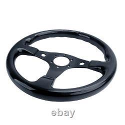 Hiwowsport 350mm Carbon Fiber Steering Wheel 6 Bolts Universal For JDM Racing