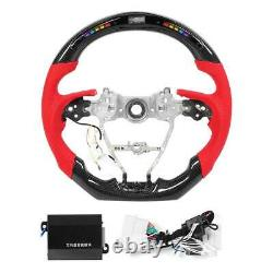 LED Carbon Fiber Race Display Steering Wheel Preforated Leather for Toyota Camry
