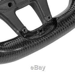 LED Performance Carbon Fiber Race Display Steering Wheel Preforated Leather
