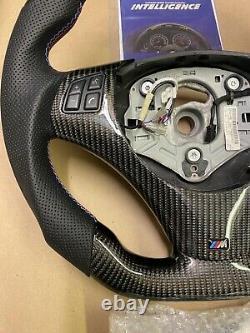 LED Performance Steering Wheel BMW E90 E92 E93 M3 / M3 Carbon Fiber + Trim