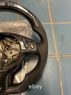 LED Performance Steering Wheel Tri Stitching BMW E46 / M3 Carbon Fiber + Trim
