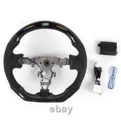Leather Steering Wheel for Nissan 370z 2009-2020 Carbon Fiber Perforated