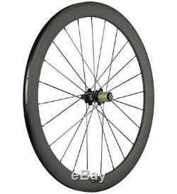 Light Weight Carbon Wheels 50mm Clincher Bicycle Carbon Wheelset Novatec 271 Hub