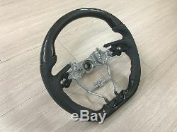 MIT Toyota CAMRY 2018-on Carbon fiber look style leather steering wheel-SPORTS