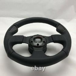 MOMO Jet 320mm Black leather steering wheel REAL carbon fibre 11102912211L
