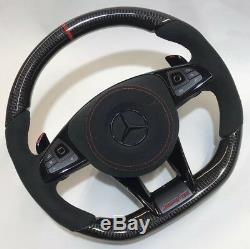 Mercedes AMG 2018 Custom Design Carbon fiber black Alcantara Steering wheel