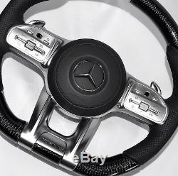 Mercedes AMG 2019 Custom Design Carbon Fiber heated/vibration Steering wheel