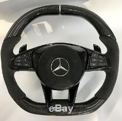 Mercedes BRABUS NEW 2019 Custom Design Carbon fiber Alcantara Steering wheel