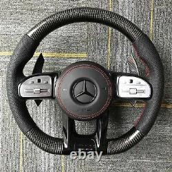 Mercedes-Benz OEM Carbon Fiber Steering Wheel(2019-2021 Style)