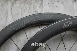 Mercury S5 DISC Wheelset 12mm & QR Tubeless Road Bike Carbon Wheels UD Fiber