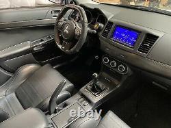 Mitsubishi EVO OEM Flat Bottom Thicker Grip Carbon Fiber Steering Wheel