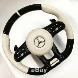 NEW Mercedes AMG 2019 Custom Design Carbon Piano BLACK vibration Steering wheel