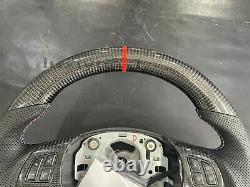 NEW Real Carbon Fiber flat sport Steering Wheel For BMW E90 E92 E91 E87 05-13