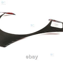 New Carbon Fiber Steering Wheel Trim Cover Fit For BMW E90 E92 M3 M Sport