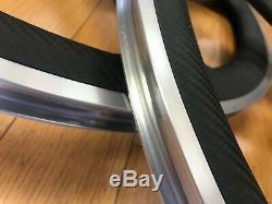 New Encore Aerospoke 5 Spoke Carbon Fiber Wheelset 700c Track Bike Wheel Set