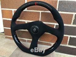 Nissan Skyline GT-R GTR R32 GTS carbon Fiber Gt spec flat bottom steering wheel