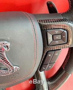 Oem Ford Shelby F150 Raptor Carbon Fiber Steering Wheel Paddle Shifter Leather