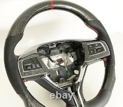 Oem New Maserati Ghibli Quattroporte Levante Carbon Fiber Red Steering Wheel