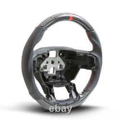 Performance Steering Wheel For 15 16 17 Ford F150 Real Carbon Fiber with Leather