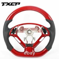 Promotion 100% Real Carbon Fiber/Leather Car Steering Wheel For Infiniti G37 G25