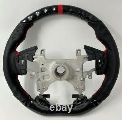 REVESOL Hydro Carbon Fiber Steering Wheel Red Ring for 13-17 Honda Accord 9