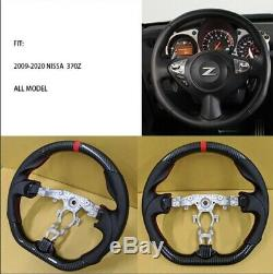 REVESOL Hydro-Dip Carbon Fiber Black Steering Wheel for 2009-2020 NISSAN 370Z