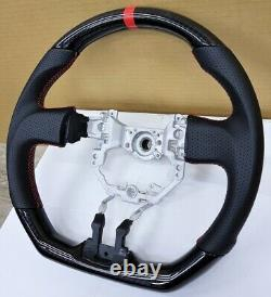 REVESOL Hydro-Dip Carbon Fiber Black Steering Wheel for 2013-2016 SCION FR-S BRZ