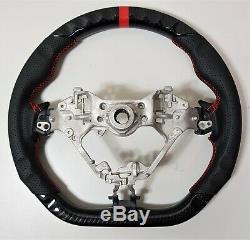 REVESOL Hydro-Dip Carbon Fiber Black Steering Wheel for 2017 TOYOTA 86 GT86 BRZ