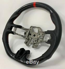 REVESOL Hydro-Dip Carbon Fiber Steering Wheel for 2015-2017 FORD MUSTANG GT